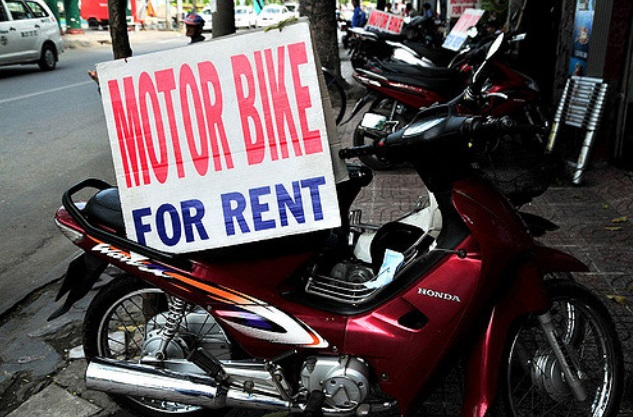 where to rent a motorbike in Vietnam