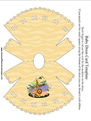Tarjeta con forma de vestido La Selva Bebés.