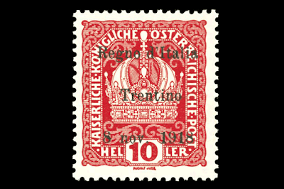 Sello Postal Ocupación Italiana en Austria