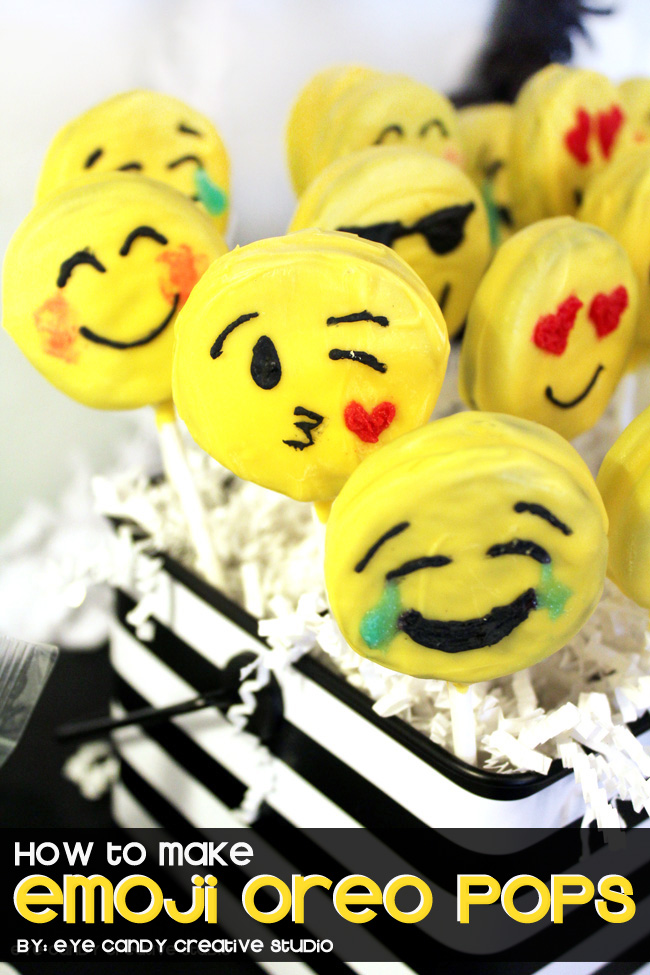 emoji birthday party, emoji sleepover, emoji pops, emoji faces