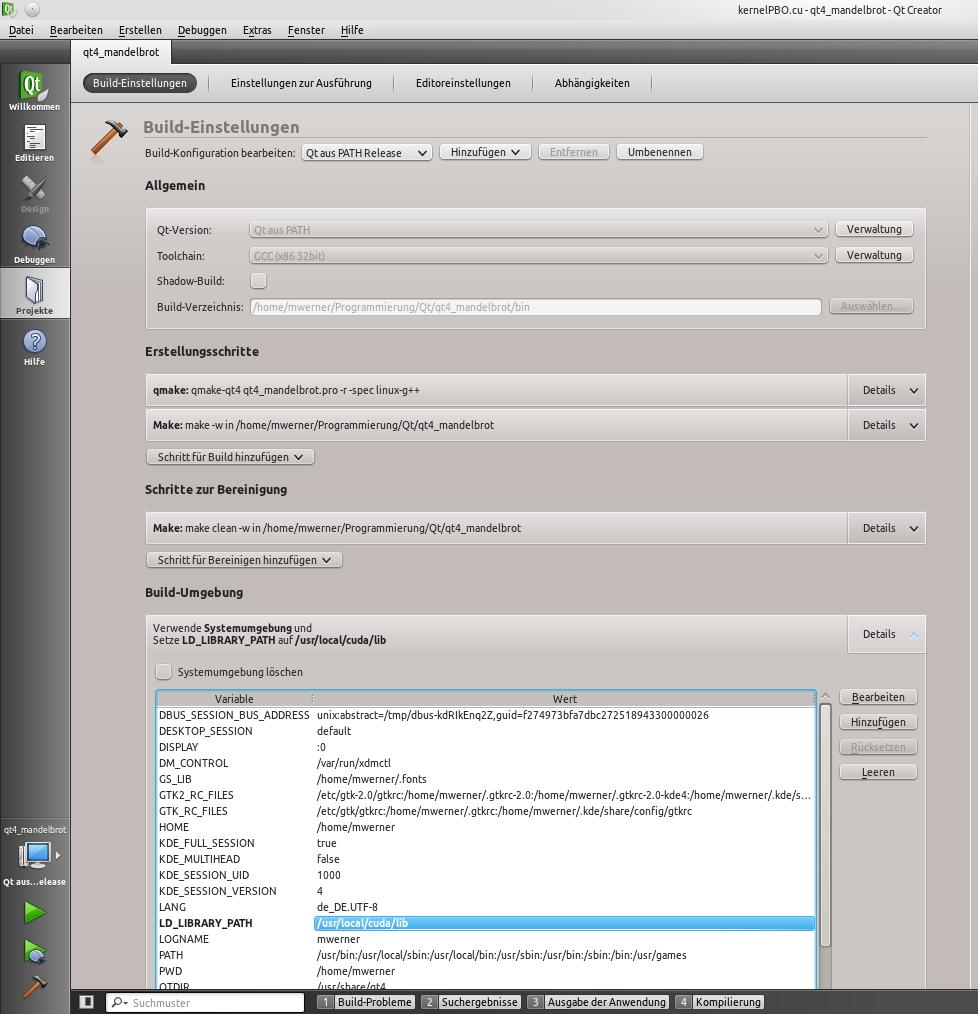 Codiary: Linux/Kubuntu - Qt + Cuda + QtCreator