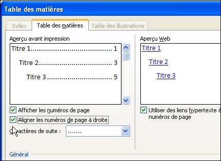 Dossiers ajouter une table des mati res ses documents word - Phrase a mettre sur une photo ...