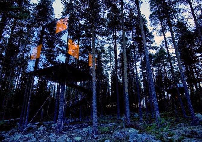 Kuća od ogledala na drvetu, Švedska