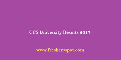 CCS University Results 2017