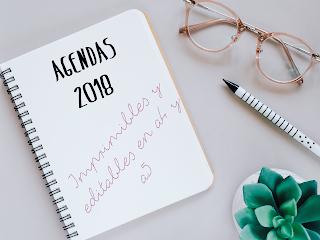 AGENDA 2018 EN A5 Y A4 IMPRIMIBLE Y EDITABLE