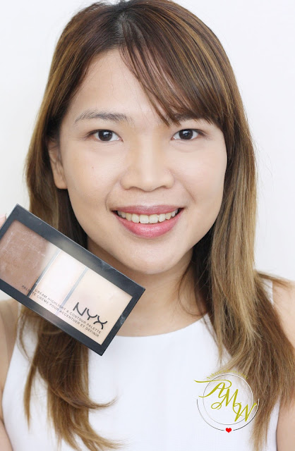 a photo of AskMeWhats Nikki Tiu How to Use NYX Cream Highlight & Contour Palette Medium + Review