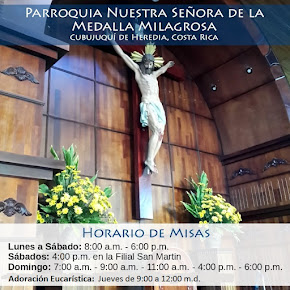 Horario regular de Misas