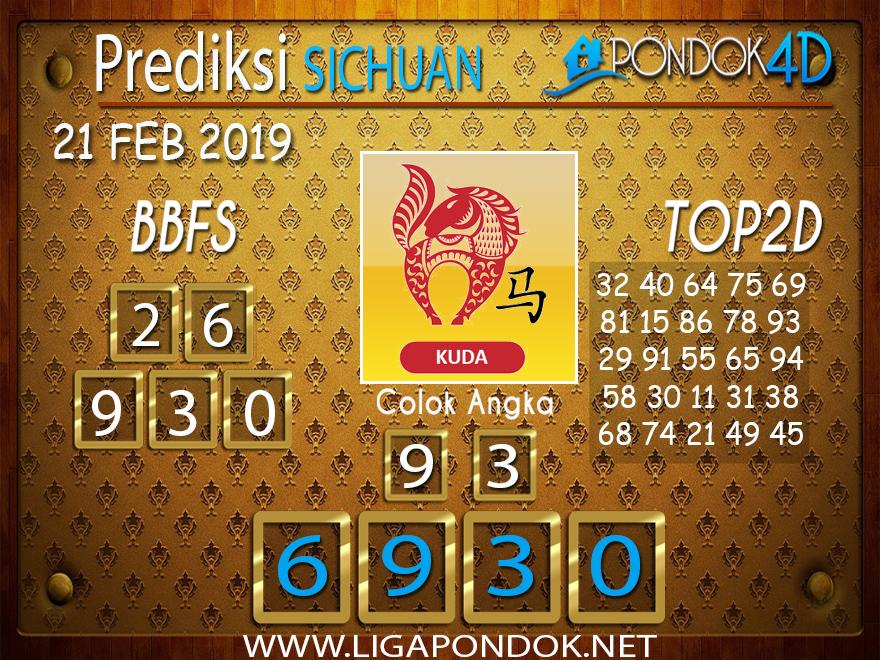 Prediksi Togel SICHUAN PONDOK4D 21 FEBRUARI 2019