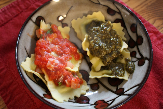 Ravioli made with sauces from Degustabox items