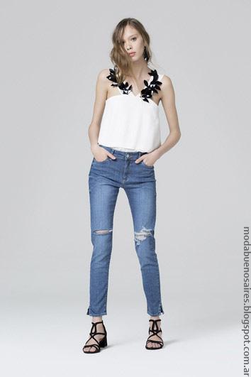 Moda jeans primavera verano 2017 ropa de mujer.