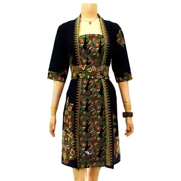 Model Baju Batik Kutu Baru Modern Untuk Wanita