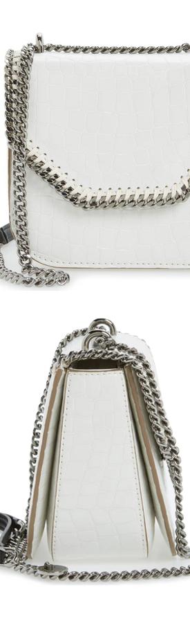 STELLA MCCARTNEY Mini Falabella Faux Leather Box Satchel