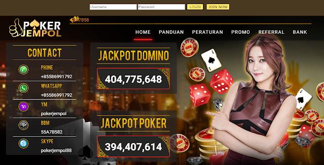 Pokerjempol.com Agen Judi Poker Online Terpercaya dengan Rate Kemenangan Tertinggi