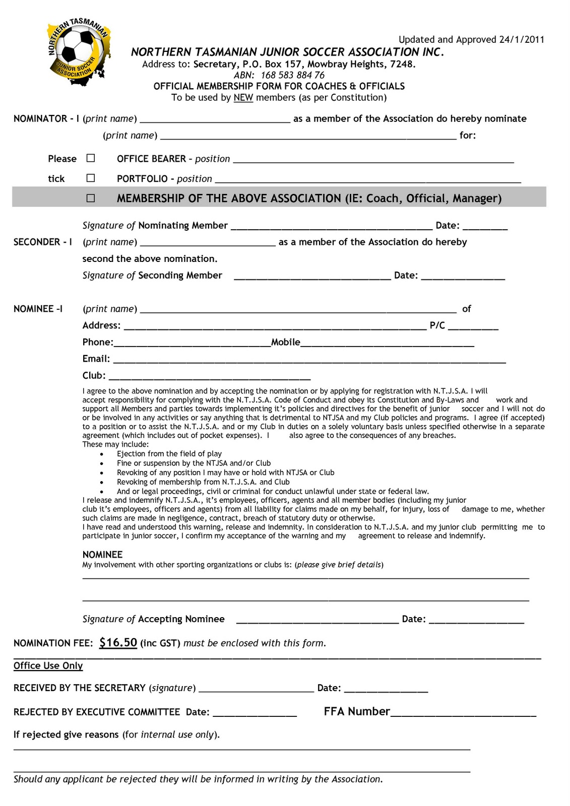 Soccer Registration Form Template toolkit for membership us youth – Club Membership Form Template Word
