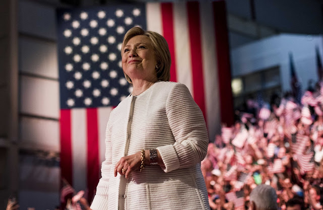 Hillary Clinton marks clinching the Democratic party's nomination