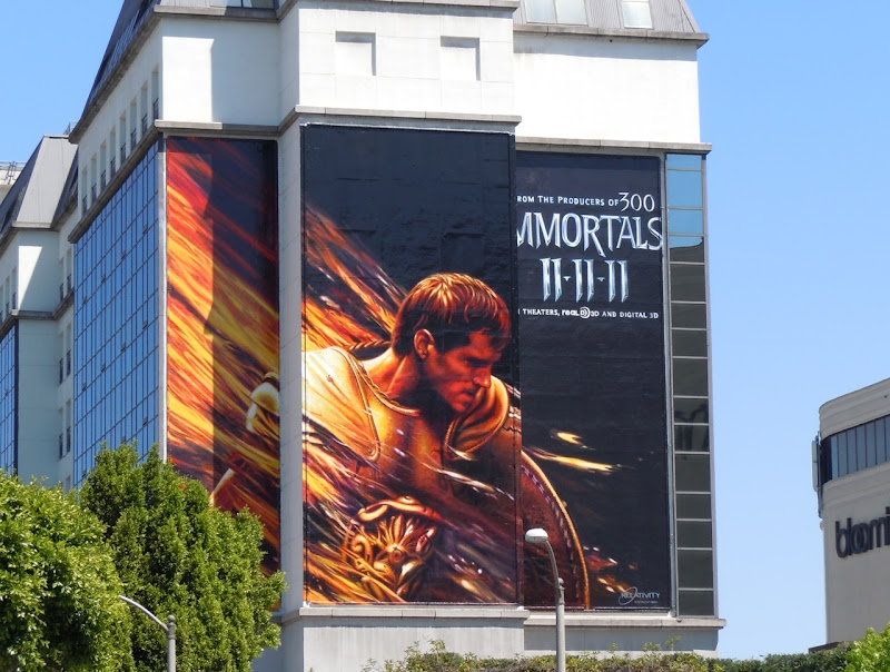Immortals teaser movie billboard