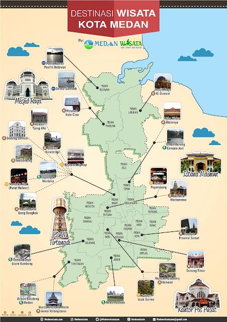 Tempat Wisata Populer di Medan | Peta Wisata Medan