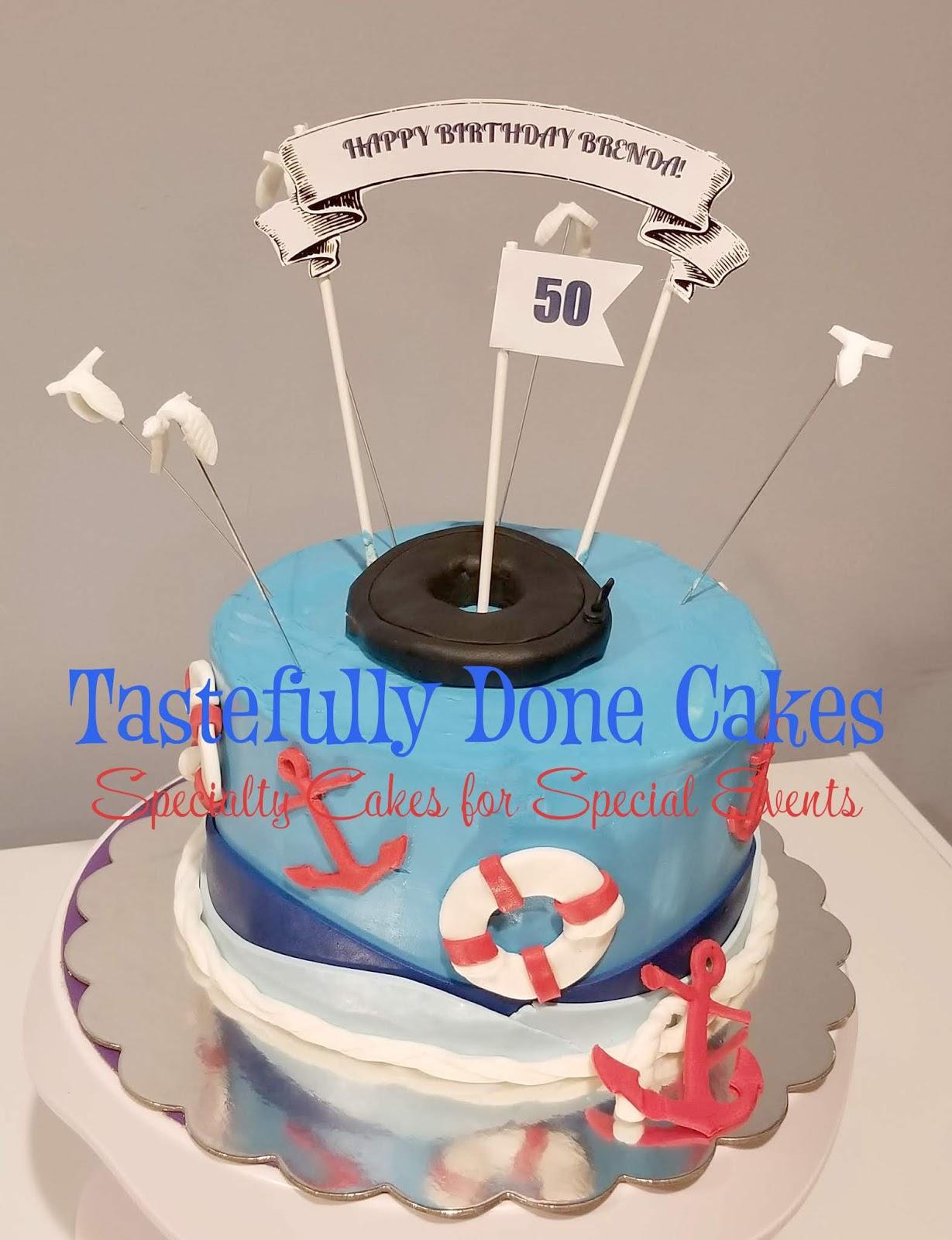 Tastefully Done Nautical Birthday Cake