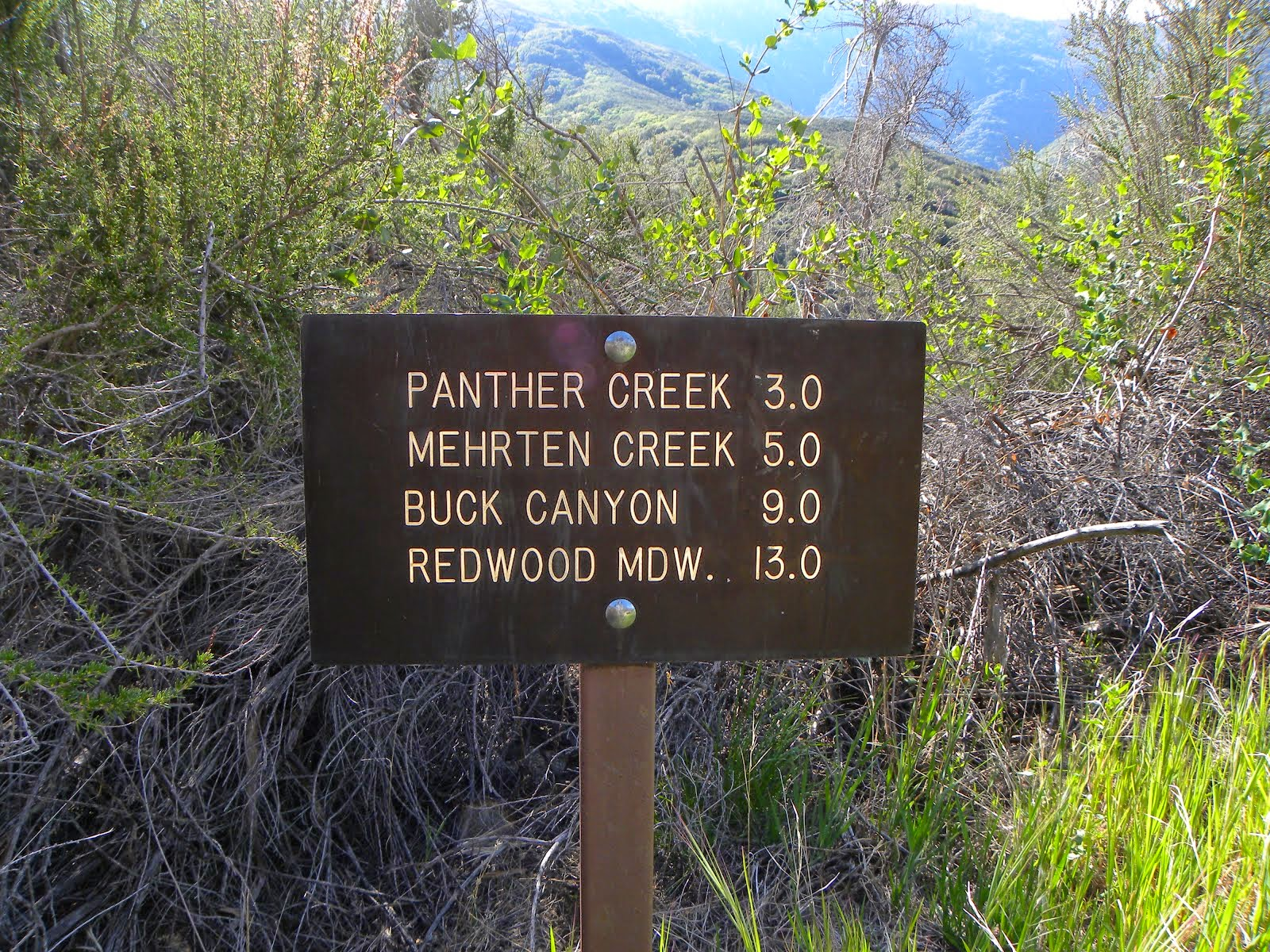 Trail Sign .. Middle Fork of the Kaweah River