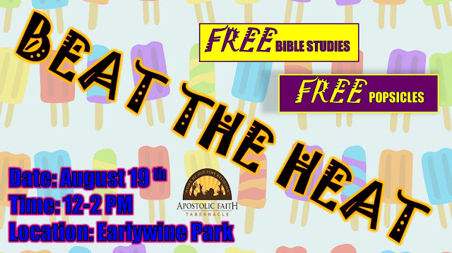 Beat the Heat with Jesus - August 19th - Everyone is Invited!