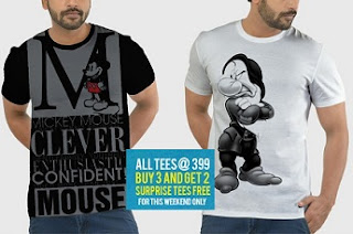 Amazing Deal: Buy any 3 T-Shirts worth Rs.699 each for Rs.399 each & Get 2 FREE Surprise T-Shirts @ Voxpop  (Valid till Weekend)