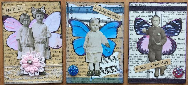 "Tim Holtz ""Fairy"" ATC card"