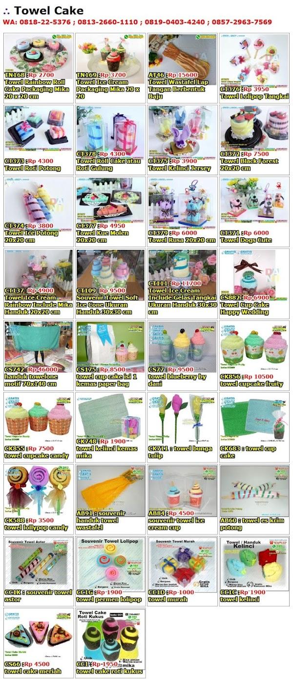Daftar Harga Towel Cake