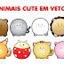 Animais cute vetorizados em Corel Draw