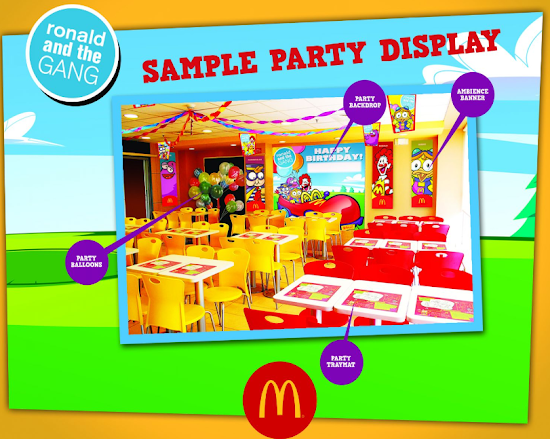 Sample display for McDo Party