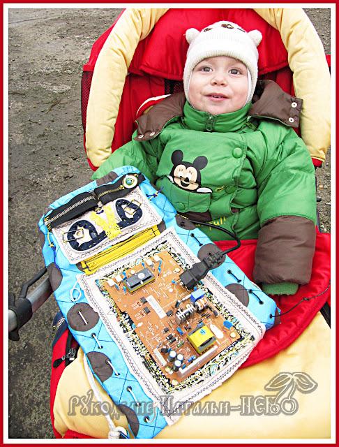 рюкзак с роботом для мальчика