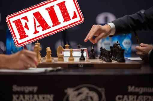 Un match de jeux d'échecs entre Magnus Carlsen et Sergey Karjakin en 2016 - Photo © Bryan R. Smith - AFP