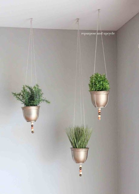 hanging planter project made with dollar tree supplies