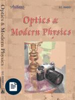 OPTICS AND MODERN PHYSICS BY D C PANDEY