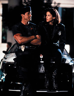 Sly and Sandra in Demolition Man