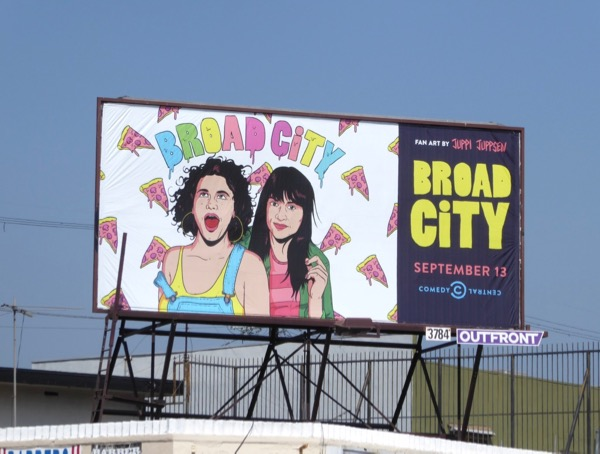 Broad City season 4 pizza billboard