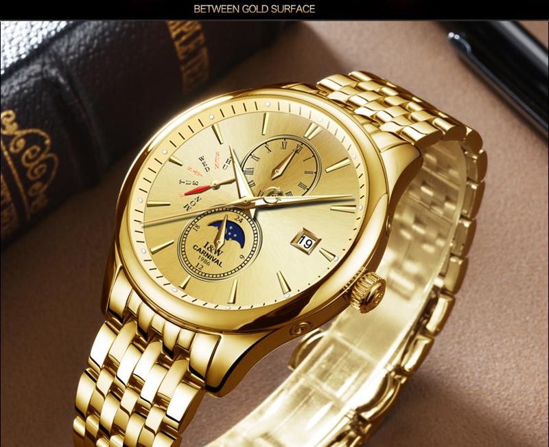đồng hồ nam tốt màu vàng