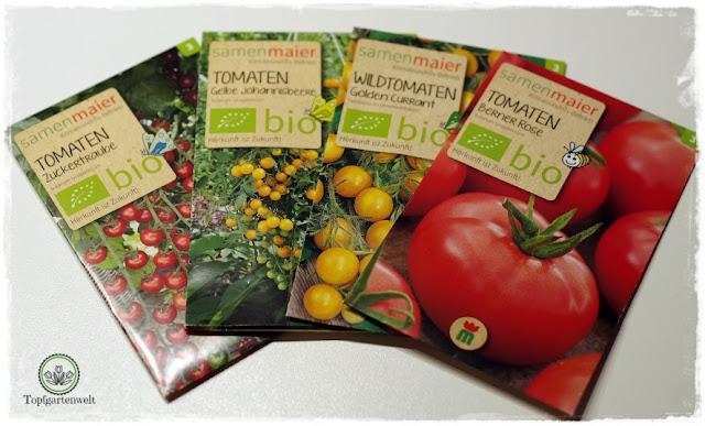Gartenblog Topfgartenwelt Aussaat Tomatensorten Gartensaison 2018: Biosaatgut Tomatensamen von Samen Maier