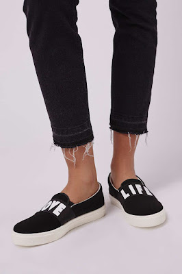 TIGA Love Life sneakers, $40 from Topshop