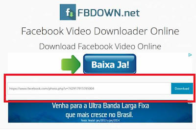 Site para baixar vídeos do Facebook fbdown.net