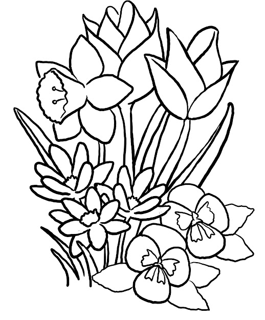 Pictures Of Coloring Pages Flowers