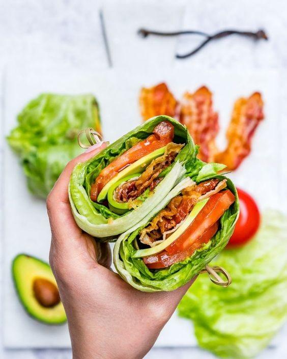 Skinny BLT Avocado Wraps Recipe