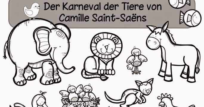 ideenreise arbeitsheft zum karneval der tiere von camille saint sa ns. Black Bedroom Furniture Sets. Home Design Ideas