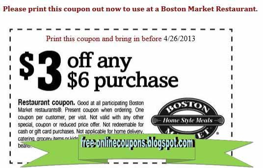Boston market coupons 2019 printable