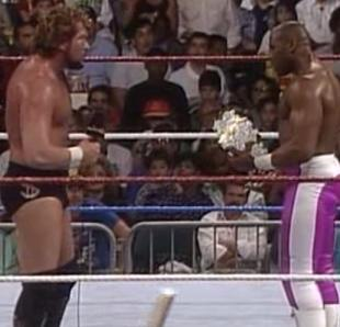 WWF ROYAL RUMBLE 1991 - Virgil finally confronts Ted Dibiase