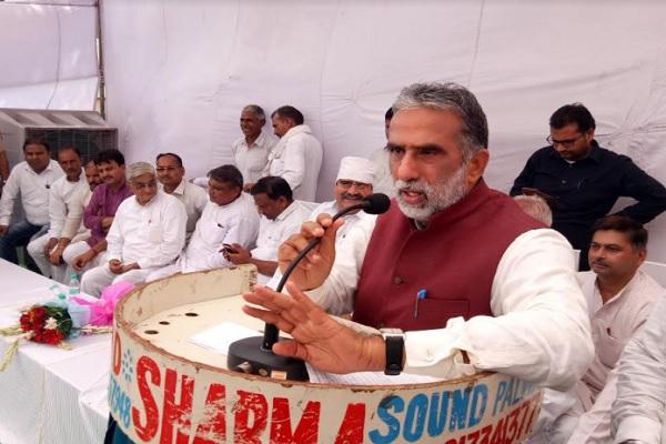 मंत्री गुर्जर ने पलवल में किया  22 करोड़ के विकास कार्यों का शुभारम्भ, पिछली सरकार को कहा भ्रष्ट