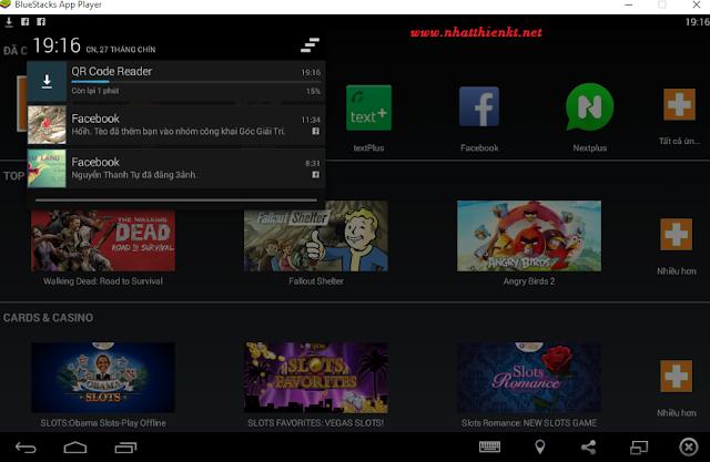 BlueStacks Giả lập điện thoại android cài đặt thành công trên Windows 10 cho máy tính cấu hình yếu