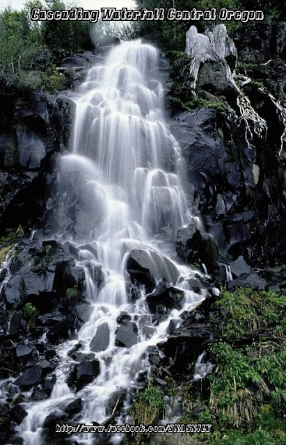 Cascading Waterfalls,Central Oregon,Beautiful scenery