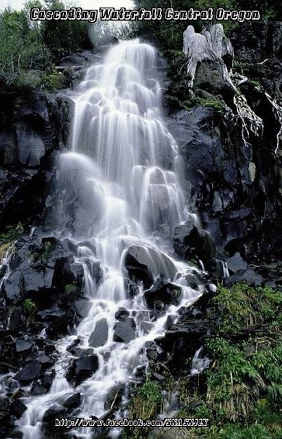 Cascading Waterfalls,Central Oregon,Beautiful scenery