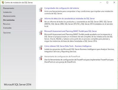 Pantalla de herramientas, observar por ejemplo SQL Server Data Tools, muy útil si trabajas en Bussiness Intelligence.