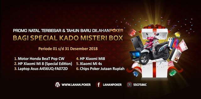 SPECIAL KADO MISTERI BOX Promo Natal Terbesar & Tahun Baru Lahanpoker